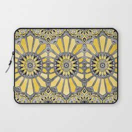 Sunny Yellow Radiant Watercolor Pattern Laptop Sleeve