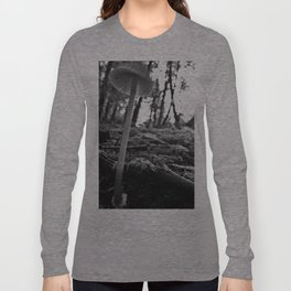 Black and White Mushroom Long Sleeve T-shirt