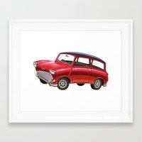 mini Framed Art Prints featuring Mini by Sousuke Chihara