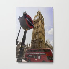 Symbols of London Metal Print