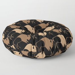 Native American Buffalo Running Floor Pillow