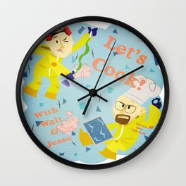 Let's Cook! With Jesse and Walt! Wall Clock