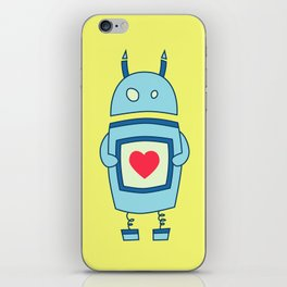 Cute Clumsy Robot With Heart iPhone Skin