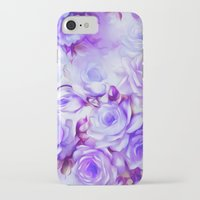 shabby chic iPhone & iPod Cases featuring Shabby Chic Purple by Jacqueline Maldonado
