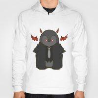 crowley Hoodies featuring Crowley Demon Penguin Supernatural by ParallelPenguins
