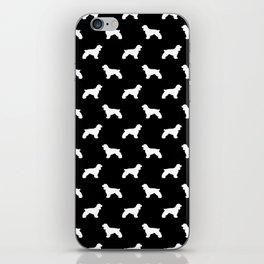 Cocker Spaniel black and white minimal modern pet art dog silhouette dog breeds pattern iPhone Skin