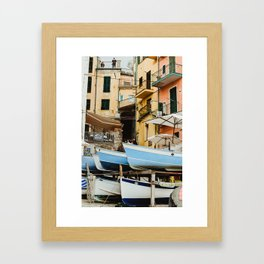 pastel city Framed Art Print