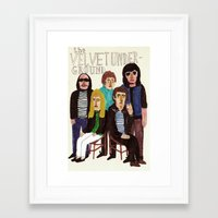 velvet underground Framed Art Prints featuring The Velvet Underground by Angela Dalinger
