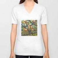 arctic monkeys V-neck T-shirts featuring Monkeys by Beesants