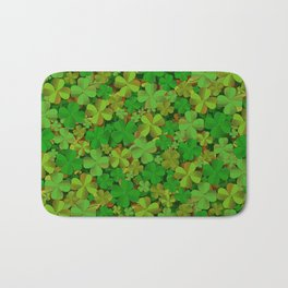 Lucky Clovers Bath Mat
