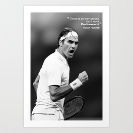 Roger Federer Canvas, Tennis poster, art, prints, Kids gift, home decor, splash Painting, gym, man cave decoration Art Print