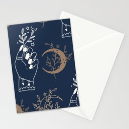 Boho Moons & Hands | Celestial Stationery Cards
