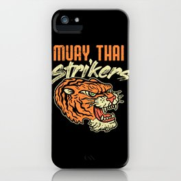 Muay Thai Strikers Tiger Kickboxing MMA Material Arts Judo Karate Gift iPhone Case