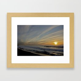Off-Center Sun  Framed Art Print