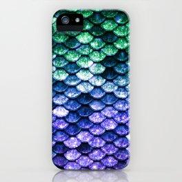 Green Purple Mermaid Tail iPhone Case