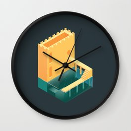 Logged Castle Wall Clock