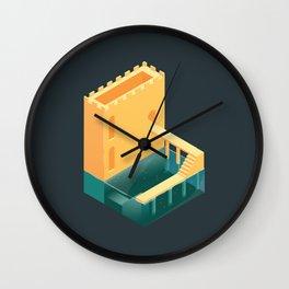 Logged Castle Wall Clock