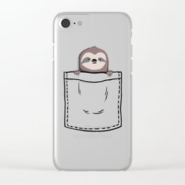 My Sleepy Pet Clear iPhone Case