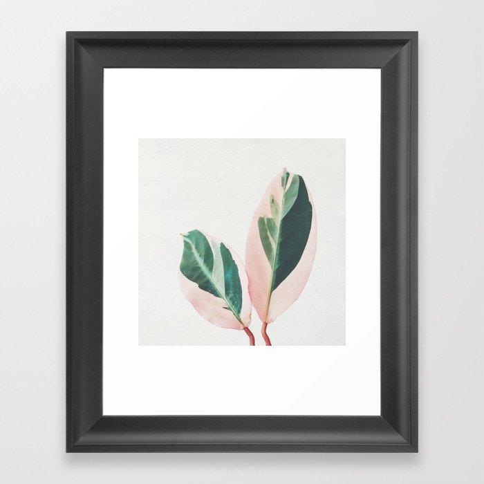 Pink Leaves I Gerahmter Kunstdruck