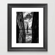 Hanging Man Framed Art Print