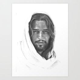 Christ (lightened) Art Print