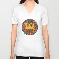 circle V-neck T-shirts featuring Circle by Brad Hansen