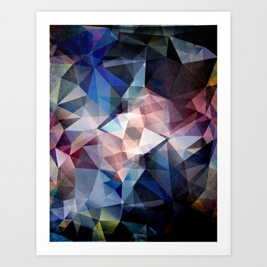 Textured Triangle Abstract Art Print