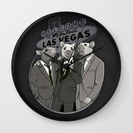 Rat Pack Wall Clock