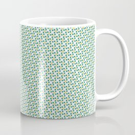 Small Turquoise Boxes and Gold Lines Coffee Mug