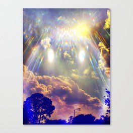 Space Clouds Canvas Print