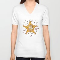 starfish V-neck T-shirts featuring StarFish by Lili Batista