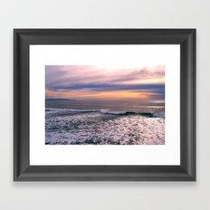moody sky Framed Art Print