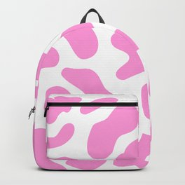 Girly Soft pink Cow Spots Pattern Backpack