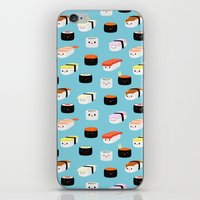 sushi iPhone & iPod Skins featuring Sushi! by Sara Showalter