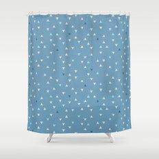 DOWN UP / niagara blue / island paradise / peanut / prussian blue Shower Curtain