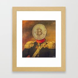 "Bit Coin Fanatic General | ""So Let Me Tell You About My Coin Base"" Framed Art Print"