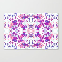 Brush Strokes Mirror Canvas Print