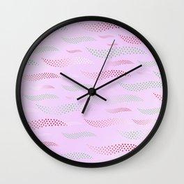 Waves / Tiger (stylized pattern) 9 Wall Clock