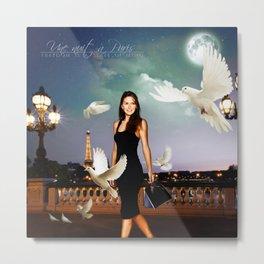 Une nuit à Paris (Paige Turco) Metal Print