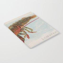 Vintage Illustration of a Lobster (1889) Notebook