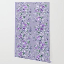 Lavander glow flower power Wallpaper