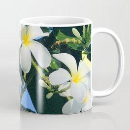 Hawaiian Tropical Plumeria Flowers With Peep of Sky Coffee Mug