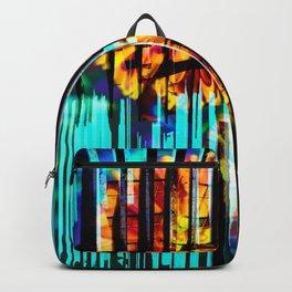 Floral Keys [orange+blue] Backpack