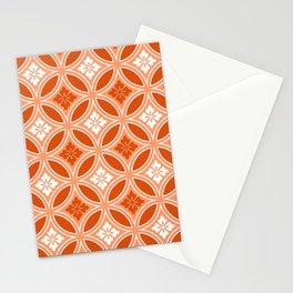 Shippo with Flower Motif, Mandarin Orange Stationery Cards