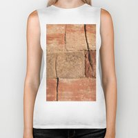 geology Biker Tanks featuring Ancient Sandstone Wall by Phil Smyth