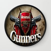 arsenal Wall Clocks featuring ARSENAL by Acus