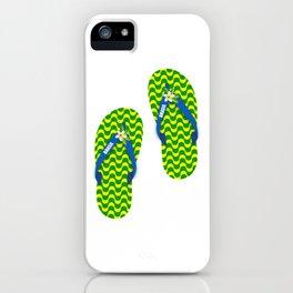 Brazilian flip flops iPhone Case