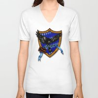 ravenclaw V-neck T-shirts featuring Ravenclaw by JanaProject