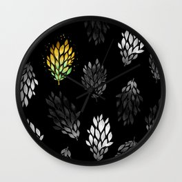-Only few are gold- on black Wall Clock