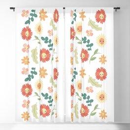 Happy Flowers Blackout Curtain